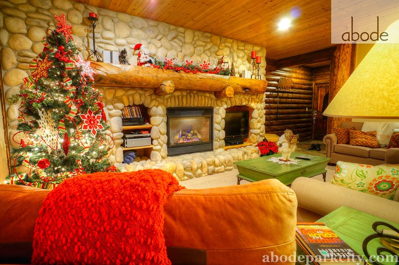 Log and stone work throughout the property - Abode at Black Bear - Park City - rentals