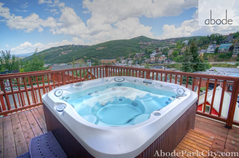 Hot tub with great views off the deck over Old Town - Abode on Woodside - Park City - rentals