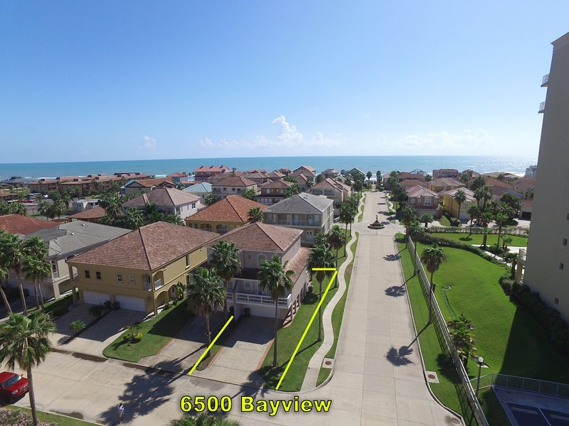 Aerial view of Ocean - 6500 Bayview Dr. - South Padre Island - rentals