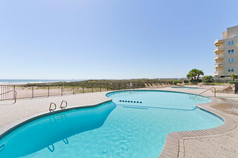 Swimming pool area. - Ocean Vista #407 - South Padre Island - rentals
