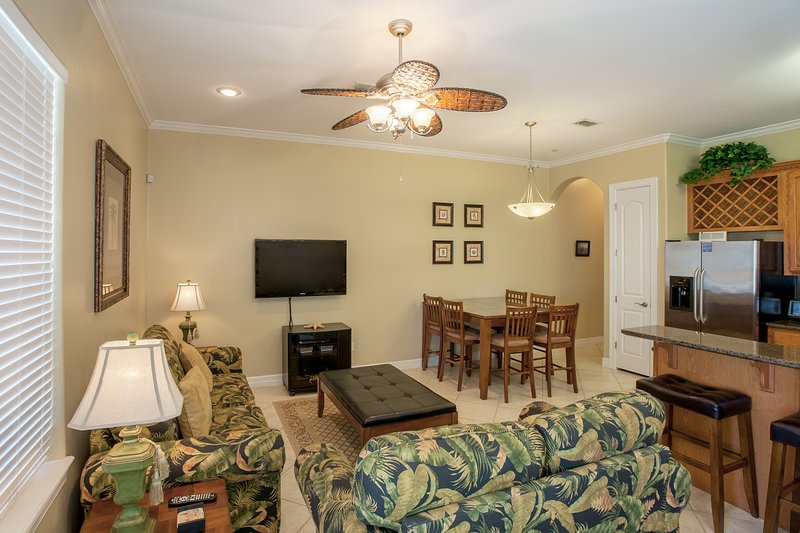 Open concept living room, dinning room , and kitchen area. - Aqua #4 - South Padre Island - rentals