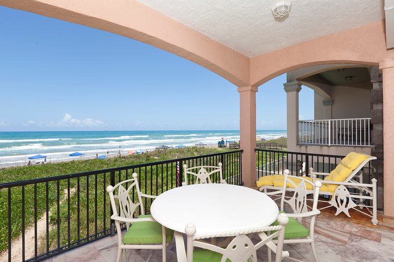 Balcony overlooking beach - 5508 Gulf Blvd (Mi Casa es Su Casa) - South Padre Island - rentals