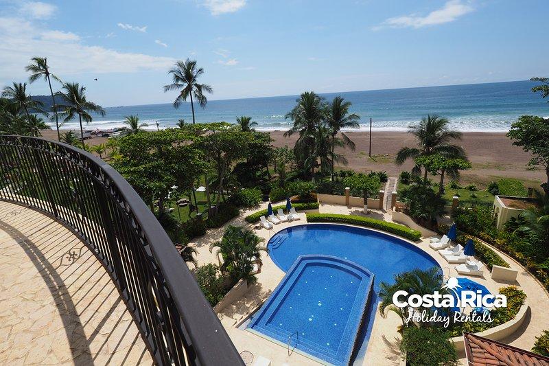 Direct ocean front terrace - Beachfront Terrace Luxury Acqua Condo A406 - Jaco - rentals