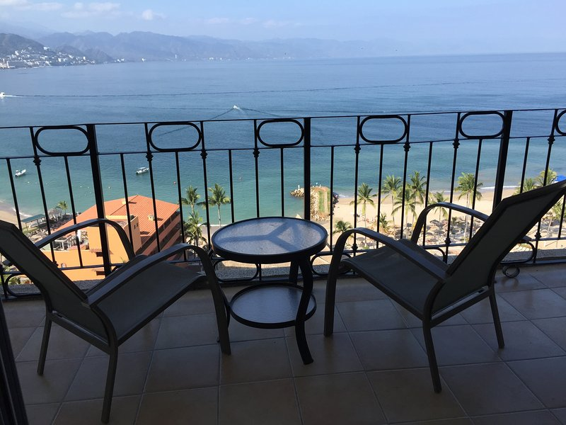 Great views from the 15th floor balcony - SRT1540 - Casa Josefina - Beachfront, Gorgeous Ocean Views - Puerto Vallarta - rentals
