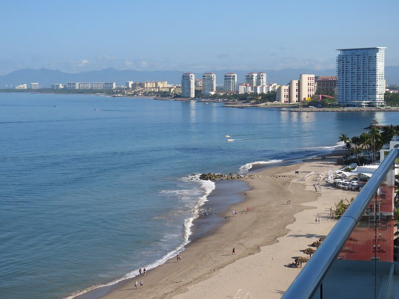 Gorgeous view from the front balcony of the Bay skyline - PEN2-09D Casa Ana - Spectacular 4 BR Peninsula - Puerto Vallarta - rentals