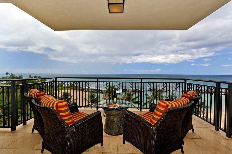 Your Expansive Lanai with Direct Ocean Views - Beach Villas BT-609 - Kapolei - rentals