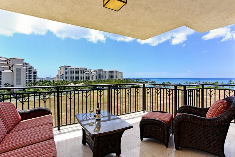 Lanai with Beautiful Ocean View - Beach Villas OT-724 - Kapolei - rentals