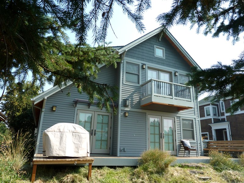 Riverfront - Side View of Home from River - Riverfront - Bend - rentals