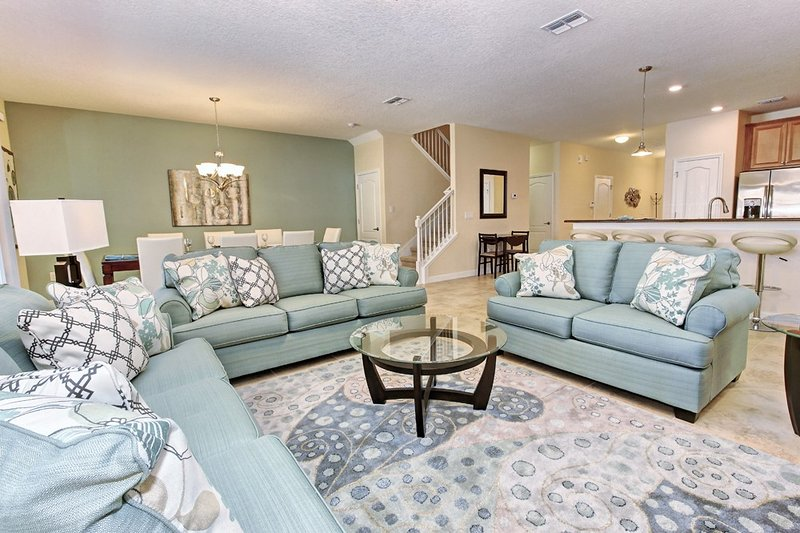 downstairs living room   - Luxury 8 Bed Villa Champions Gate 15min to  Disney - Davenport - rentals