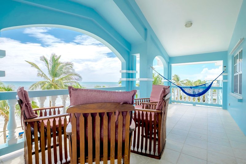 Picture yourself here!! - C3: Beachfront with veranda view to Barrier Reef! - San Pedro - rentals