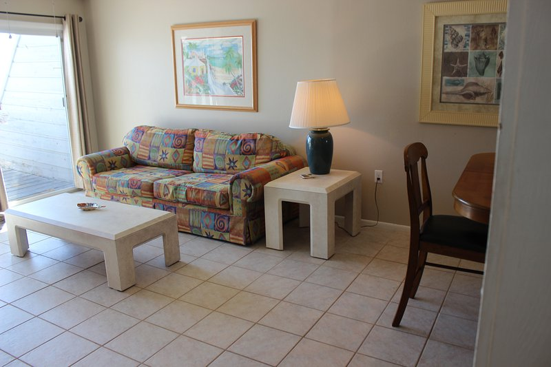 This is classic Florida beach living with a spectacular view! The main living area is on the second floor and is cool and comfortable with tile floors. - Gulf Sands West Unit 2 - Miramar Beach - Miramar Beach - rentals