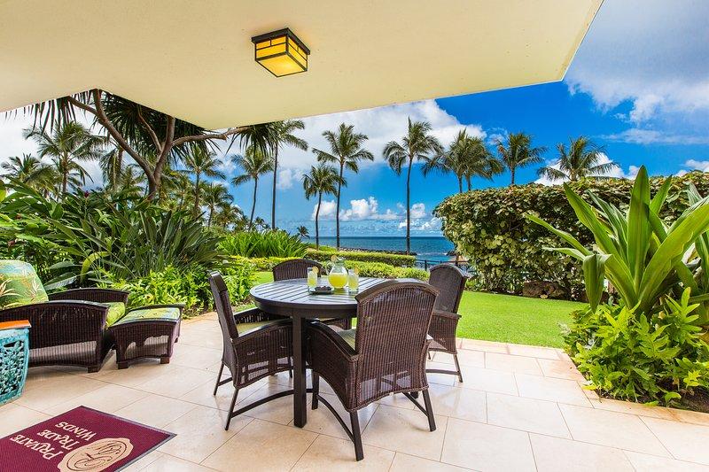 Ground floor beach front villa. View of the ocean from the lanai - B-110: Hale Papakea Ko Olina Beach Villa - Kapolei - rentals