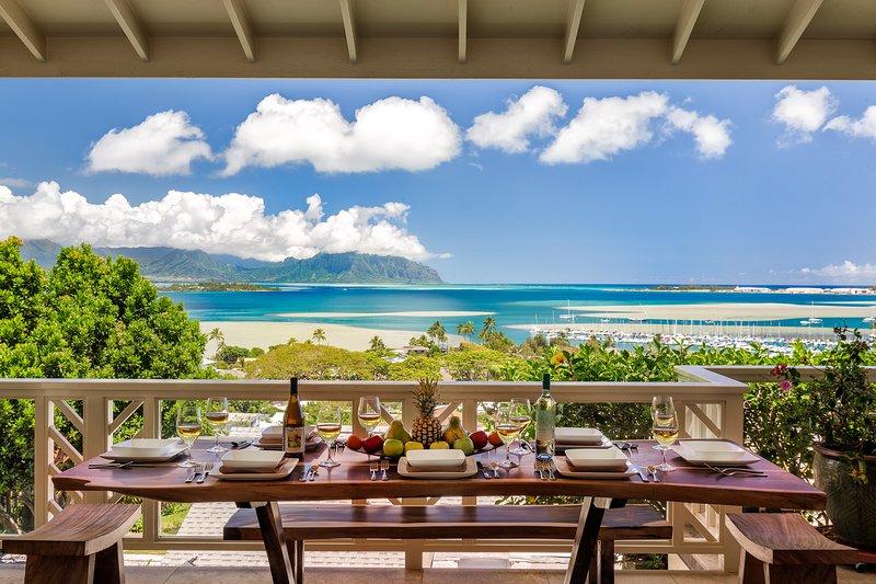 Covered lanai with panoramic views! - Moena Kai - Kaneohe - rentals