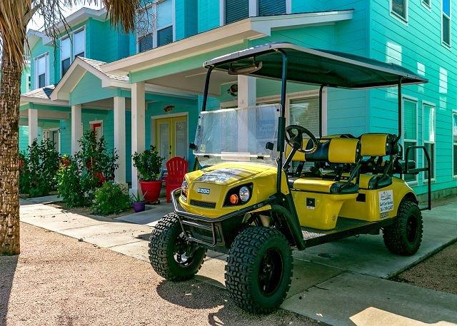 Free Golf Cart - Casa Du Miel: *FREE GOLF CART, Shared Pool, Pets, Close to Beach - Port Aransas - rentals