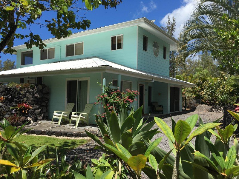 Gardens by the Sea - Gardens by the Sea: Ocean view home with POOL, private yard, tropical gardens - Pahoa - rentals