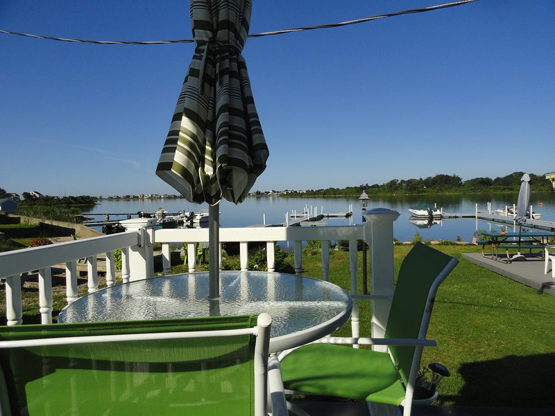 Waterfront deck to relax & watch the varied wildlife and sunsets - R.I Waterfront by E. Matunuck Beach & Narragansett - South Kingstown - rentals