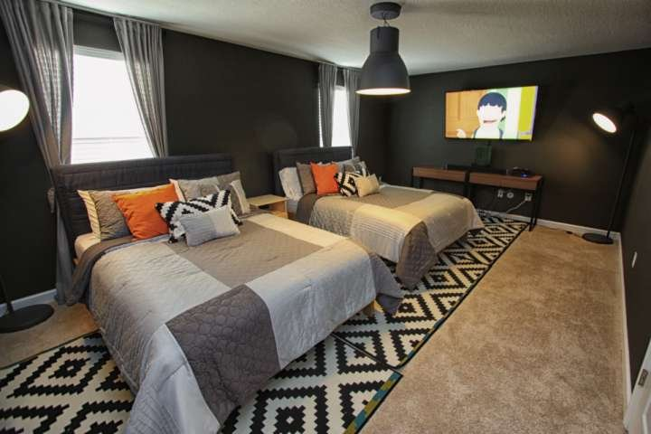 Newly Converted Bedroom with Two (2) King Size Beds and Flatscreen TV - 1474 Champions Gate - Davenport - rentals
