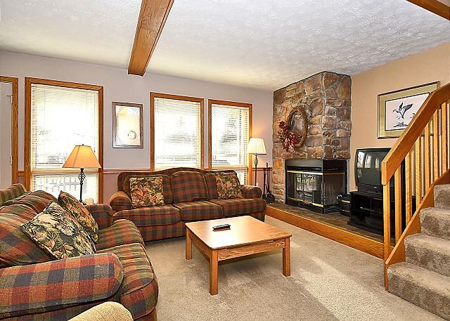 Living Room - DF027, 3 bedroom town home situated near Canaan Valley area attractions! - Davis - rentals