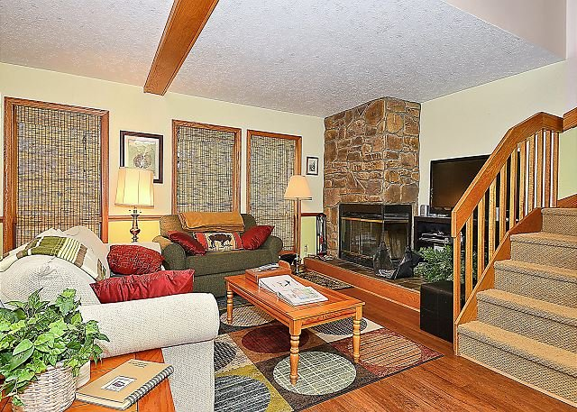 Living Room - It's Millertime! Renovated condo right in the center of Canaan Valley, WV!! - Davis - rentals