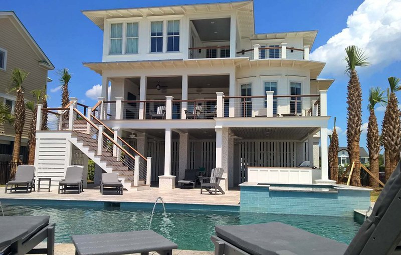 Oceanfront Home with Pool, Spa, Large Kitchen, and Private Beach Access! - Image 1 - Isle of Palms - rentals