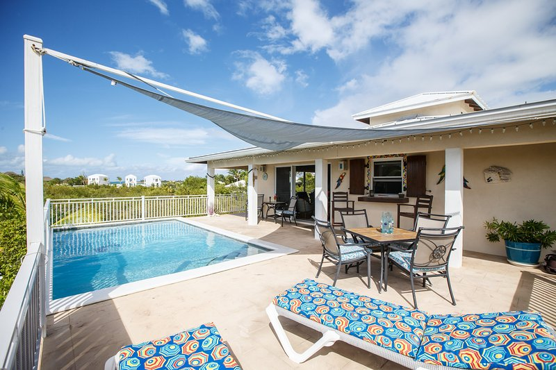 Pool Deck fascing Taylor Bay - Casa de Isle right off Taylor Bay - Providenciales - rentals