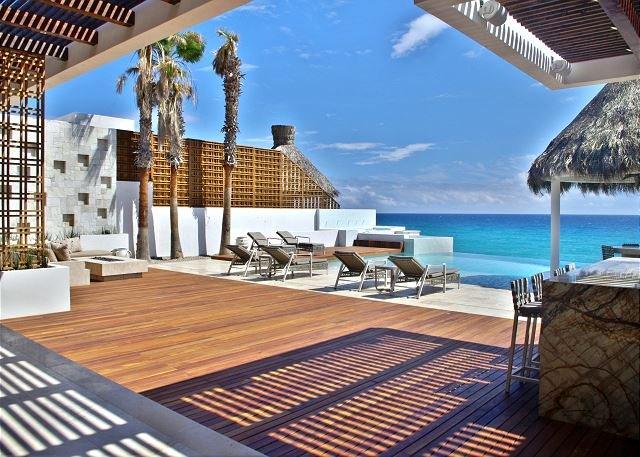 Deck  - Villa Serena 5 Bdrm Beachfront Paradise - SPECIAL RATE  - CALL TODAY - San Jose Del Cabo - rentals