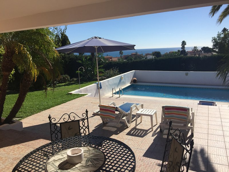 The view from the private terrace  - Stunning large One bedroom, Sea and Garden View! - Estepona - rentals