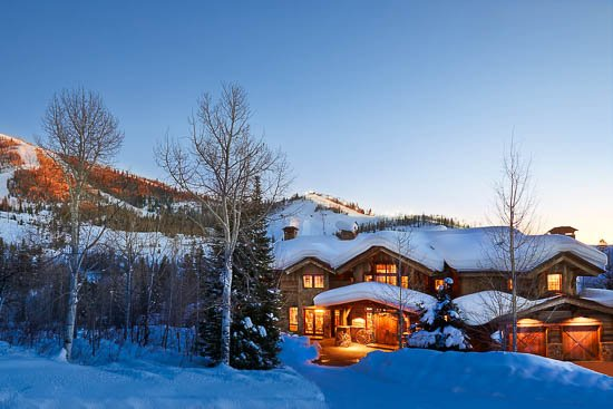 "Gold Mine Lodge in Winter - ""Great Powder"" Specials - save up to 25% - Gold Mine Lodge super deluxe ski home - Steamboat Springs - rentals"