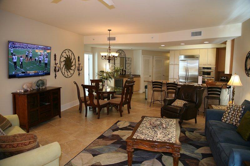 Living room with 65 inch 4k smart  tv - CARIBE RESORT D-816  BEAUTIFUL VIEWS, GULF & BAY - Orange Beach - rentals