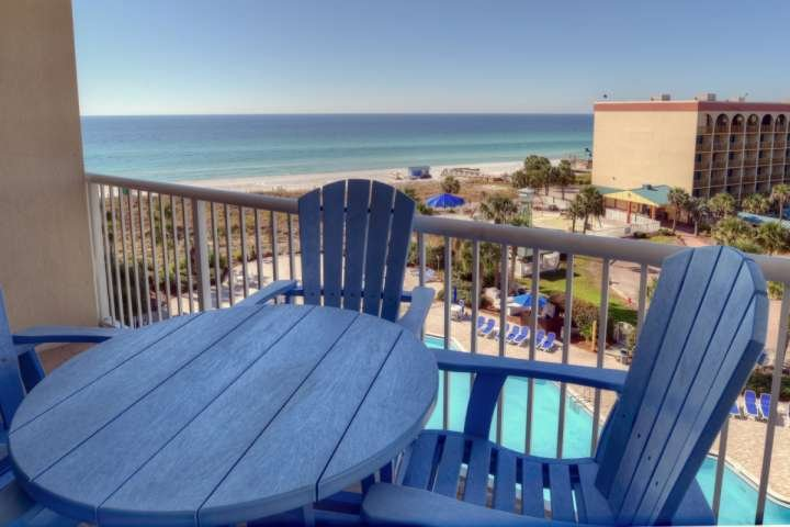 Have coffee from the balcony while watching the tide roll in. - DESTIN WEST BEACH RESORT 6th Floor -1 BR/Bunk/2 BATH - Right on the Beach - Fort Walton Beach - rentals