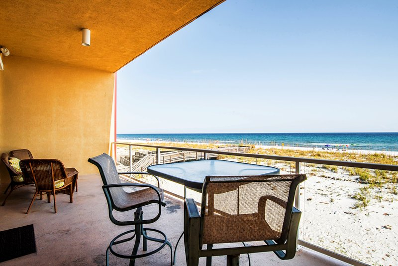 View from Main Level Deck - Gulf Front townhouse - Regency Cabanas B3 - Pensacola Beach - rentals