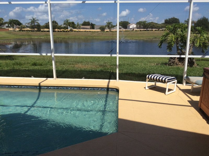 Private Pool & Hot Tub. Lake view. - Disney - Rolling Hills 4/3 Private Pool, Hot Tub, and Games - Pet Friendly - Kissimmee - rentals