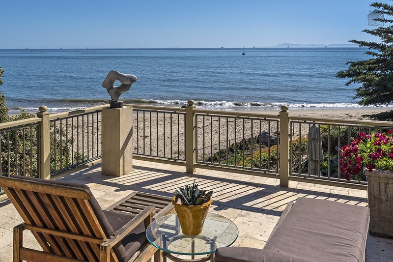 The master balcony's views are absolutely breathtaking. - Possibly the most luxurious beachfront home in Montecito - Montecito Beach Estate - Montecito - rentals