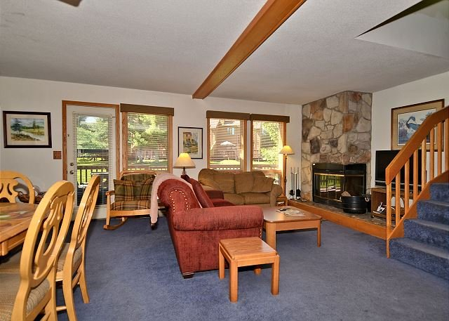 Living Room - Gypsy Haven is a 3 bedroom end unit located at Deerfield in Canaan Valley, WV - Davis - rentals