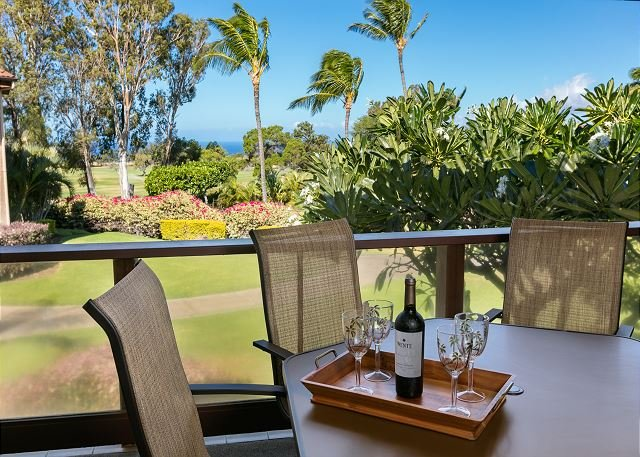 Lanai with Golf Course and Ocean Views - Idyllic Waikoloa Retreat with Ocean View: Easy Access to Sun, Sand, Sport!-WVD200 - Waikoloa - rentals