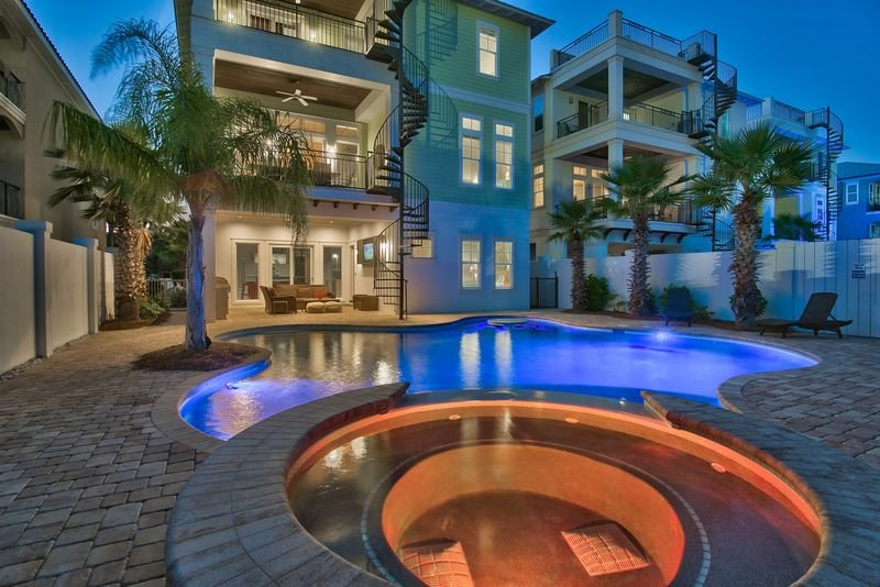 8 BR Luxury--Private Pool/Spa, Steps to the Beach - Image 1 - Miramar Beach - rentals