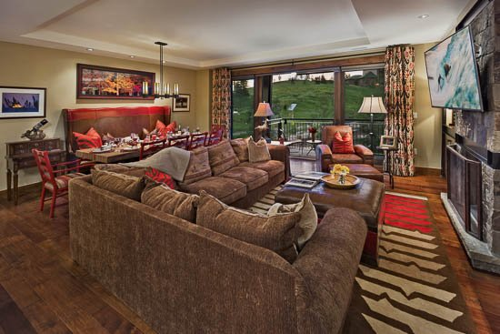 Living Room - Sunshine Mtn- 4Bedroom - Ski in/ Ski Out at One Steamboat - Steamboat Springs - rentals