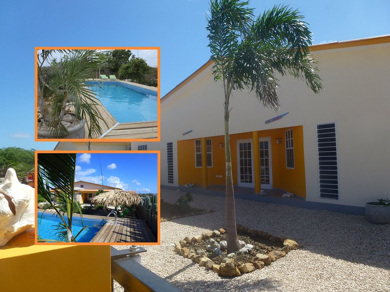 Entree - Sunny and colorful apartment with pool and large g - Kralendijk - rentals