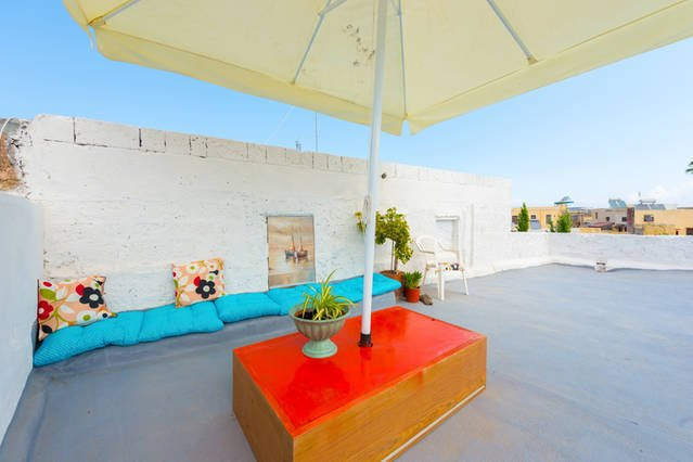 The roof terrace!! - ''Ilios Apartment'' in the  Old  Medieval Town of  Rhodes! - Rhodes Town - rentals