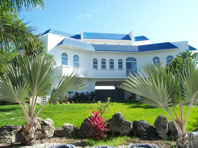 View of home as you drive up to property - Seaside Sanctuary 5 bedroom 5 bath pool home - Islamorada - rentals