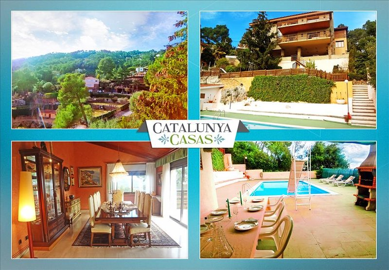 Heavenly 3-story villa in Sant Feliu with 5 bedrooms and a private pool only 25km from Barcelona - Image 1 - Castellar del Valles - rentals