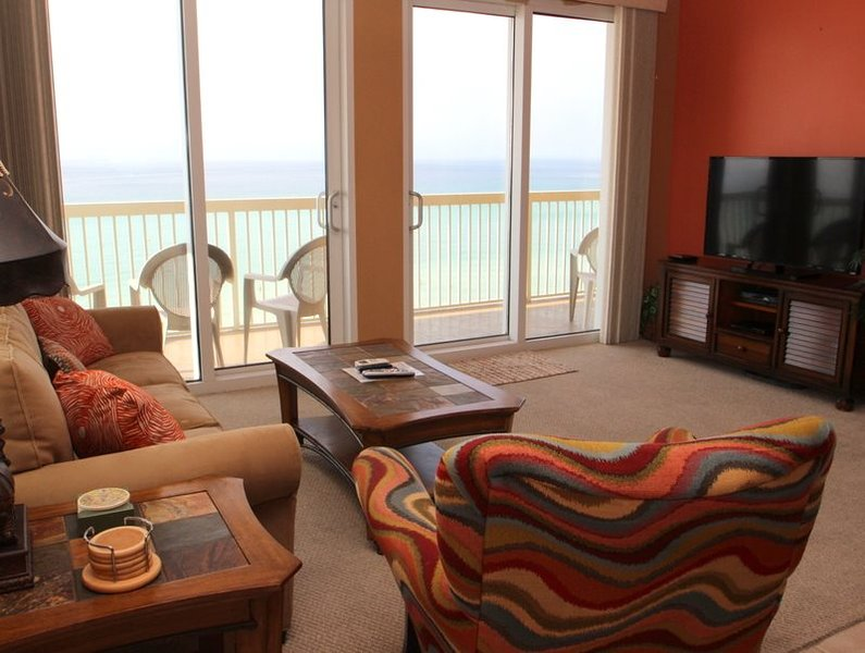 SPECTACULAR views from our 3 bedroom, 3 bath CORNER CONDO at Calypso Resort - Image 1 - Panama City Beach - rentals