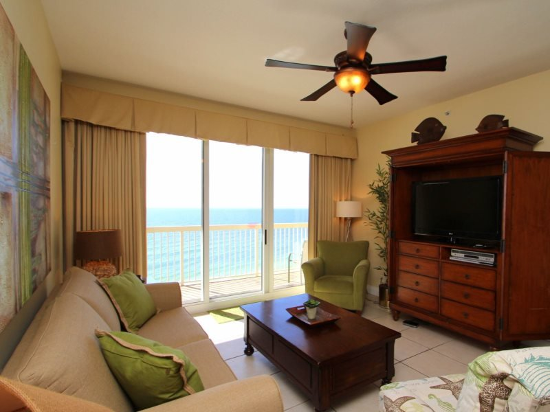 Get FREE Beach Chair Service and Private Owner`s Parking with this 3 bedroom beachfront located on the 9th floor at Calypso Resort! - Image 1 - Panama City Beach - rentals