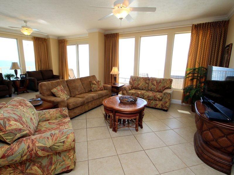 Beautiful and spacious 3 Bedroom 6th Floor Corner Unit with WRAP AROUND BALCONY at Treasure Island! Enjoy FREE BEACH CHAIR SERIVICE - Image 1 - Thomas Drive - rentals