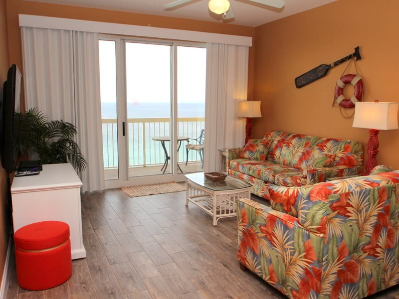 Enjoy BEACH CHAIR SERVICE and NETFLIX with your rental of our 3 bedroom beachfront condo at Calypso Resort! - Image 1 - Panama City Beach - rentals