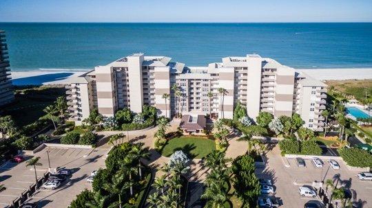 Aerial - Somerset 809 - Great Location, Beachfront Condo! - Marco Island - rentals