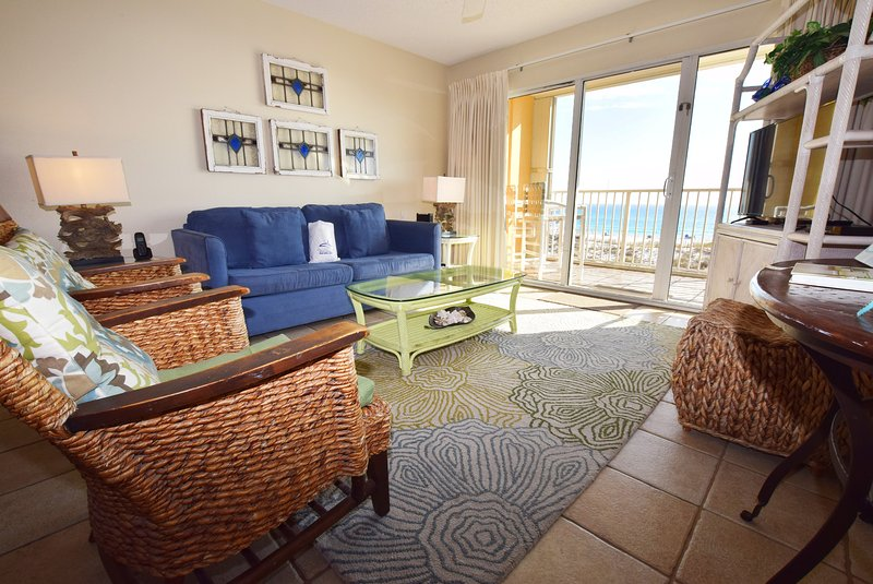 Living Room Gulf Dunes 202 Fort Walton Beach Florida Okaloosa Island Destin - Gulf Dunes Resort, Unit 202 - Fort Walton Beach - rentals