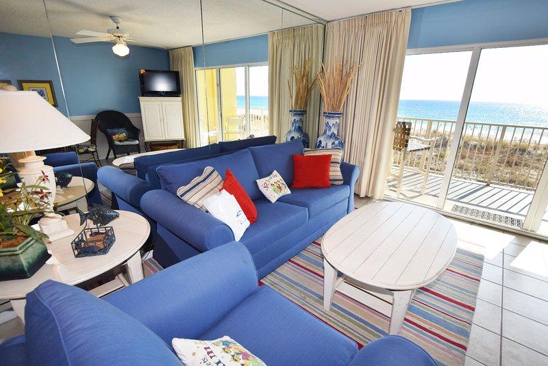 Living Room Gulf Dunes 206 Fort Walton Beach Florida Okaloosa Island Destin - Gulf Dunes Resort, Unit 206 - Fort Walton Beach - rentals