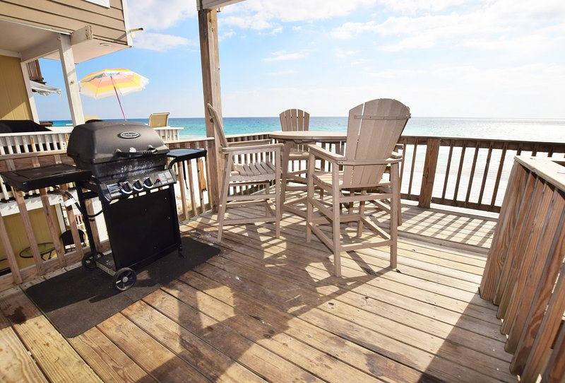 Balcony 2nd Floor Sandollar Townhomes Unit 11 Miramar Beach Destin Florida Vacation Rentals - Sandollar Townhomes, Unit 11B - Destin - rentals