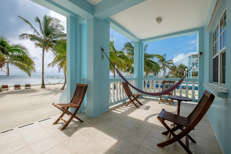 Your front porch leads directly to the pristine private beach! Furniture crafted from local hardwood - 3 bedroom condo on your own private beach! -C1 - San Pedro - rentals